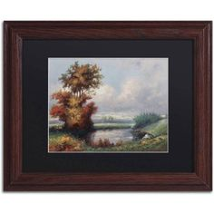 Trademark Fine Art Landscape Next to Heaven Canvas Art by Daniel Moises, Black Matte, Wood Frame, Size: 16 x 20, Brown