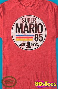 "Super Mario 85 T-Shirt: Super Mario Bros Mens T-Shirt Gaming Geeks: Mario made gaming history and became ""super"" popular! The best design, technology and the art from 1988 gave new meaning to video games."