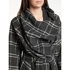 Buy Modern Rarity Eudon Choi Double Faced Wool Check Coat, Grey from our Women's Coats & Jackets range at John Lewis & Partners. Jackets Uk, Check Coat, Royal College Of Art, Lady Grey, Tailored Jacket, Check Printing, Rarity, Female Form, Manish