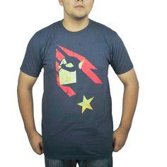 Marvel Captain America Silhouette Men's Blue T-Shirt NEW Size L #CaptainAmerica #Tshirt