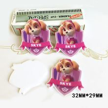 50pcs 32*29MM Cartoon Paw Patrol SKYE Flatback Resin Kawaii Dog Planar Resin DIY Crafts For Home Decoration Accessories DL-767(China (Mainland))