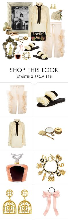 """""""Little Princess"""" by juliabachmann ❤ liked on Polyvore featuring Roberts-Wood, Sanayi 313, Gucci, Lalique, Chanel, Vintage and Cara"""