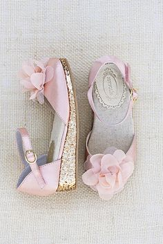 65c9145f34e9 Joyfolie Pink Glitter Isabelle Shoe with Flower Clip Pink Flower Girl  Dresses