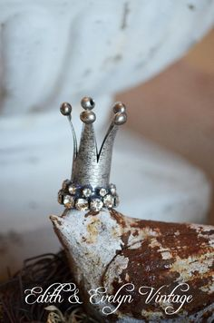 Tiny Rhinestone Crown Tiara by edithandevelyn on Etsy, $23.00