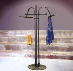 Industrial Garment Racks, Retail Fixtures and Display Racks made with reclaimed materials and iron pipe on rolling caster wheels. Retail Fixtures, Garment Racks, Coat Racks, Iron Pipe, Industrial, Boutique, Home Decor, Hangers, Decoration Home