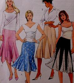 Gored Skirt Sewing Pattern