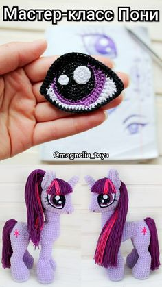 Crochet pattern unicorn, my little pony Crochet Pony, Crochet Unicorn Pattern, Crochet Horse, Crochet Eyes, Crochet Baby Hats, Crochet Beanie, Crochet Patterns Amigurumi, Cute Crochet, Crochet Motif
