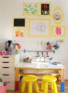 Love this kids' art space!