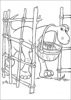 The Good Dinosaur Coloring Pages 13