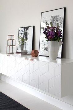 Beyond the IKEA Hack. Innovative companies create something new using IKEA furniture. Learn some of the ways they're taking IKEA furniture to the next level. Floating Cabinets, Ikea Cabinets, Ikea Furniture, Furniture Design, Furniture Handles, Custom Furniture, Painted Furniture, Home Living Room, Interior Inspiration