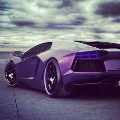 Purple Lamborghini Aventador...