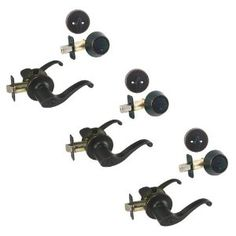 3 - Richmond Oil Rubbed Bronze Entry Lever with Matching Single Cylinder Deadbolt Combo Packs Keyed Alike (We Key Lock Orders Alike for Free) by Designers Impressions. $92.91. Kwikset Keyway (We Key Lock Orders Alike for Free). Package of three (3) Entry Knobs and three (3) Single Cylinder Deadbolts Keyed Alike. Includes all Mounting Hardware  Matching Strike Plates Included  15 Year Finish Warranty  Lifetime Mechanical Warranty  Grade 3 (Residential Use)  Sold In...