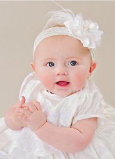 Preslee Silk Rosette Headband | Baby Headbands