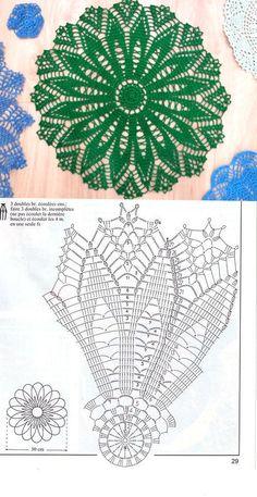 Crochet Doily Diagram, Filet Crochet, Diy Crochet, Crochet Doilies, Crochet Patterns, Crochet Basket Tutorial, Crochet Cable Stitch, Crochet Circles, Crochet Tablecloth