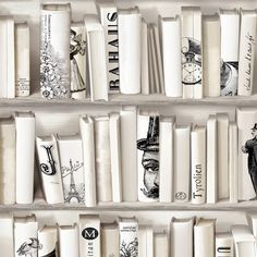 Muriva+Encyclopedias+Wallpaper++-+Cream+572217