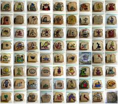 """For the last 5 years, dad and graphic designer David Laferriere has been drawing whimsical little sketches on the sandwich bags that he puts in his kids' lunches. Before sending them to their final demise in a cafeteria garbage can, he photographs the mini-masterpieces and uploads them to Flickr. His """"Sandwich Art"""" series currently has over 1,100 images that he's drawn for his children."""