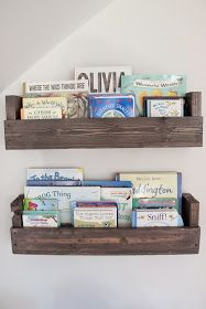 DIY bookshelves. Gray stain & polyurethane top coat.