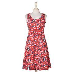 Boden Retro Rose Floral Sleeveless Cotton Dress