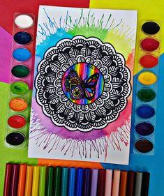 Y justo cuando la Oruga pensó que era su final, se transformó en Mariposa. Mandala Tattoo, Mandala Art, Dibujos Zentangle Art, Finals, Rainbow, Watercolor, Drawings, Painting, Instagram