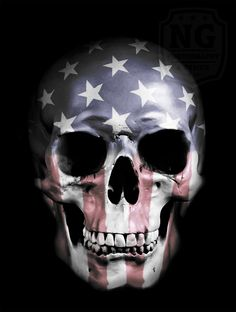 American Skull Art Print by Nicklas Gustafsson