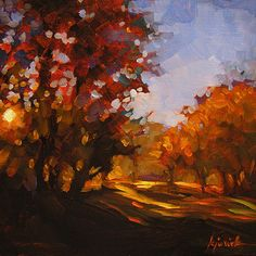 """A Painting Today: """"Where Max & Will Walk"""""""
