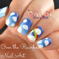 Over the Rainbow Nail Art: The Dalai Lama's Nails