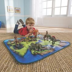 Dinosaur play mat and toy box