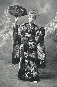 "Rosina Brandram as Katisha in the 1895 DOC revival of ""The Mikado"" at the Savoy Theater."