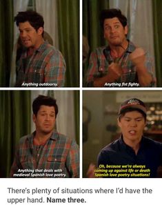 Oh my gosh Jake is too cute! Tv Show Quotes, Film Quotes, Christian Kane The Librarians, Ezekiel Jones, John Kim, What's Your Number, New Tv Series, Beautiful Blue Eyes, Love Scenes