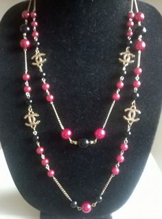 """Beautiful 56"""" CHANEL Inspired Pearl Chain Cabaret Necklace 