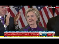 Hillary Clinton's concession speech - YouTube💠More Pins Like This At FOSTERGINGER @ Pinterest💠