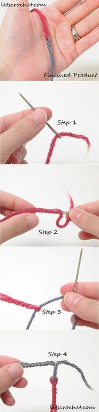 How to Change Yarn Colors ~ Lets Crochet.com  This is the best way I have ever seen to change colors. This way you have no tails to tuck in and the color change is perfect.