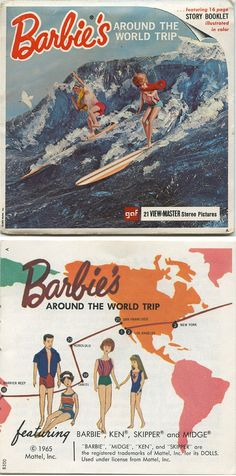 Barbie's Around the World Trip — 1965 View-Master Reels