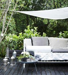 Cozy outdoor space in the garden.