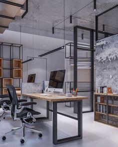 30+ Brilliant Industrial Office Design Ideas   Trendhmdcr.com