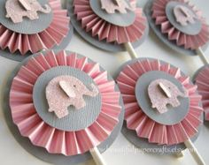 pink and gray party supplies - Google Search