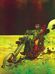 / Moebius (Jean Giraud) - Kustom Kulture- I Live For This Shit Jean Giraud Moebius, Moebius Art, Art And Illustration, Fantasy Kunst, Fantasy Art, Bd Comics, Art Graphique, Animation, Sci Fi Art