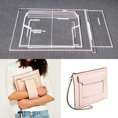 344825657b97 1 комплект DIY кожа ручной работы женская сумочка кошелек швейный узор  Твердые крафт бумажные трафареты 220x120x25 мм