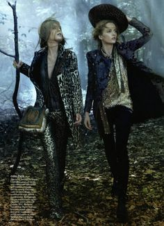 Mirte Mass and Daria Strokous in Universal Coverage by Steven Meisel for Vogue, August 2010