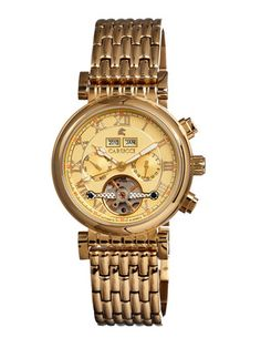 Carucci Gold Stainless-Steel Automatic Men's Watch