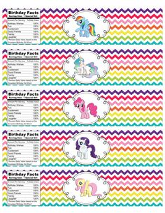 INSTANT DOWNLOAD My Little Pony Rainbow por IrrelephantDesigns