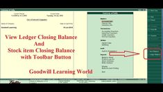 Tally TDL to View item closing Stock and ledger Closing Balance from Gateway of tally with Button c Pastel Accounting, Closer, Fonts, Ads, Button, Learning, Videos, Free, Designer Fonts