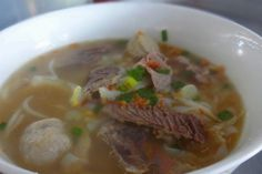 Beef koay teow soup