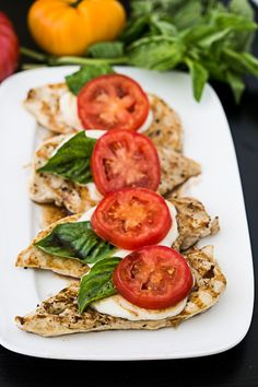 We love caprese salad, so why not combine it with simple grilled chicken to make it something special? This dish makes a great weeknight dinner but will also impress dinner guests if served at a party