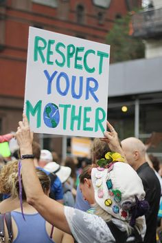 """""""Respect Your Mother"""" (People's Climate March NYC)"""