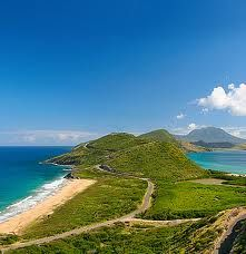 St. Kitts- Left is Atlantic, Right is Caribbean. Here 1-13-13. Beautiful here
