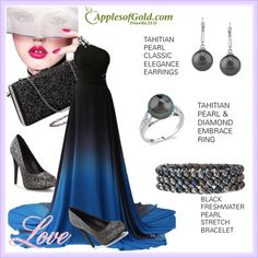 How To Wear Tahitian Pearl from Apples of Gold Jewelry Outfit Idea 2017 - Fashion Trends Ready To Wear For Plus Size, Curvy Women Over 20, 30, 40, 50
