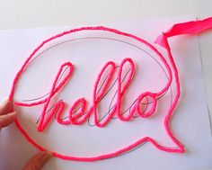 neon sign - wrapped bent wire message
