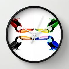 Toucan Clock Bubbles, Clock, Canning, Wall, Design, Home Decor, Watch, Decoration Home, Room Decor