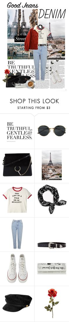 """Hello, Paris!"" by hey-nice-to-meet-you ❤ liked on Polyvore featuring Prada, Dries Van Noten, Chloé, WALL, rag & bone, Topshop, B-Low the Belt, Converse and Disney"